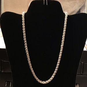 """Other - No. 4mm 18"""" Stainless Steel Wheat Braided Chain."""